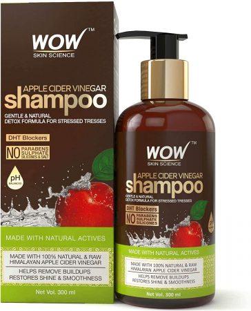 WOW Apple Cider Vinegar No Parabens & Sulphate Shampoo
